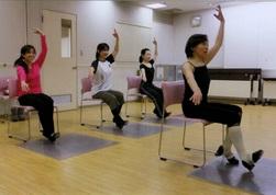 スタジオ・F 椅子に座ってタップダンス
